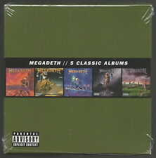 MEGADETH - 5 Classic Albums [5CD BOX-SET] BRAND NEW & ORIGINAL FACTORY SEALED