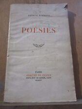 Arthur Rimbaud: Poésies/ Mercure de France, 1945