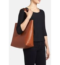 MADEWELL J CREW TRANSPORT TOTE BAG NWT #F2359 IN ENGLISH SADDLE
