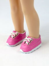 """Hot Pink Sporty Sneakers Fits Wellie Wishers 14.5"""" American Girl Clothes Shoes"""