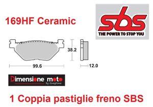 169HF - Pastiglie Freno Posteriori SBS Ceramic per YAMAHA XP 530 T-Max dal 2012
