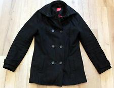 Damen Caban Mantel Wollmantel Jacke von Esprit in schwarz Gr. 40 (A243)