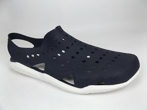 Mens CROCS Swiftwater  WAVE Navy/White Shoes Water Sandals SZ 11.0 M,  18929