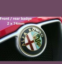 Alfa Romeo 74mm x2 front / rear logo badge stickers GOLD SALE