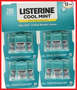 Listerine Cool Mint Pocketpaks Breath Strips 12 Pack 288 strips