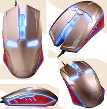 Reino Unido Stock 2400dpi 6d naffee Iron Man g5s 6 Botones Óptico Con Cable Usb Gaming Mouse