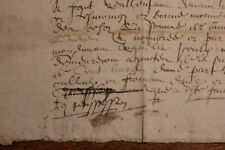 c1500 very nice signature oncial medieval calligraphy for this 2pp letter nice i