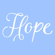 "6"" HOPE STENCIL STENCILS WORD PAINT CRAFT TEMPLATE TEMPLATES BACKGROUND ART NEW"