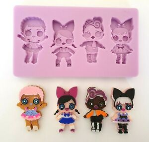 LOL DOLLS SILICONE MOULD FOR CAKE TOPPERS, CHOCOLATE, RESIN, CLAY etc