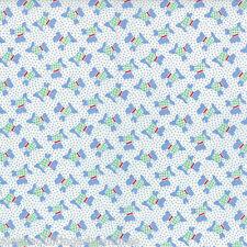 MODA Fabric ~ 30's PLAYTIME ~ Chloe's Closet (32793 17) Blue - 1/2 yd