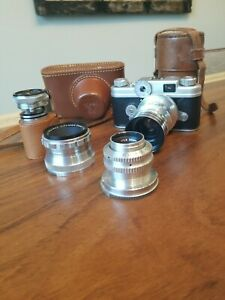 Vintage Argus C-Four 35mm Range Finder Camera - Argus C4 With Extra Lens