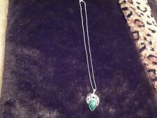 #106 VINTAGE STERLING SILVER NECKLACE-925-BEAUTIFUL STERLING ESTATE PENDANT