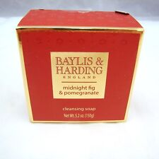 Baylis & Harding MIDNIGHT FIG & POMEGRANATE Cleansing Soap 5.2 oz 150 g NEW NWOB