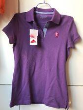 Giordano Polo Ladies Purple T-Shirt Polo Top-Size S/M-NWT