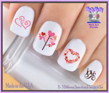 Nail Art V7607 Valentines Tree of Hearts Love WaterSlide Nail Decals Transfers