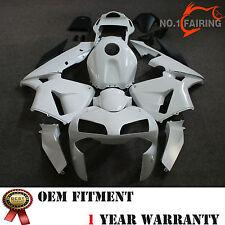 Drilled Unpainted White ABS Fairing Kit Bodywork for HONDA CBR600RR 2003 2004