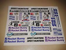1/10 RC CAR stickers decals