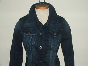 BN G Star Slim Tailor Jacket Dark Aged Comfort Pillar  Denim Jacket Size Small