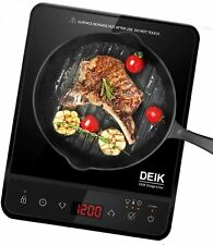 New listing Portable Induction Cooktop, Deik 1800W Full Color Touchscreen Bt-G20