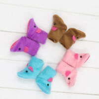 4 Pairs Handmade Rabbit Pattern Plush Snow Boots Shoes for 12'' Blythe Dolls