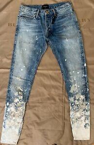 FEAR OF GOD Jeans Denim  paint splatter jeans Size 32 $1560