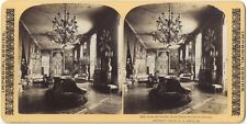 Suède Stockholm Palais Royal Art Gallery Photo Stereo Stereoview Vintage
