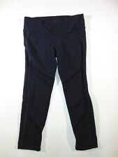 alo Crop Leggings, Yoga, Train, Run, Black with Mesh Detailing, Size Medium