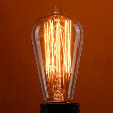 4 Pack 110V 60W Squirrel Cage Filament Light Bulb Vintage Retro Edison E26 Base