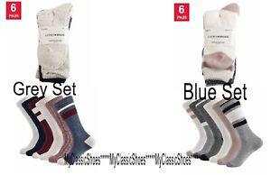Lucky Brand Women's Boot Socks Crew Length Grey or Blue New