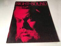 Sight And Sound Vintage Cinema Movie Magazine Autumn 1968 Orson Welles Cover 60s
