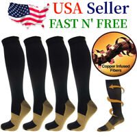 5 Pairs Compression 20-30mmHg  Socks Graduated Support Copper Relief Men Women
