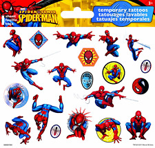 Spider-Man Temporary Tattoos, Easily Removable Safe For Kids, Party Favors Trend