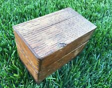 Vintage Wood Recipe Library Index File Card Finger Joint Dove Tail Box