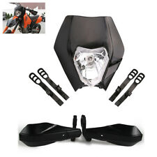 "7/8"" 22mm Motorcycle Dirt Bike Front Headlamp High/Low Beam+Handguard Protector"
