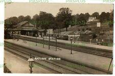 More details for old postcard radlett railway station herts denholm bon marche' real photo c.1910