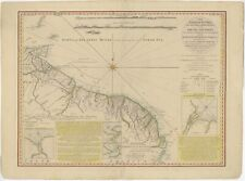 Antique Nautical Chart of the Coast of Guyana by Rochette (1783)