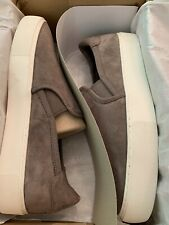 UGG JASS Women's Sneakers Slip-On Flats Suede Loafers Mole Gray Sz 12 Brand New