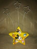 "Disney Hallmark Walts 100th Clip Photo Holder 7"" Yellow 1928 2001 Mickey Minnie"