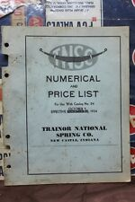1934 TRAINOR NATIONAL SPRING CO. NUMERICAL PRICE LIST for Catalog No. 24 (249)