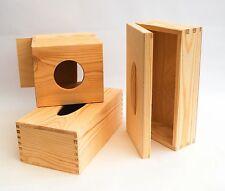 Square / Rectangular Plain Wooden Tissue Box Cover Wood Holder for Decoupage