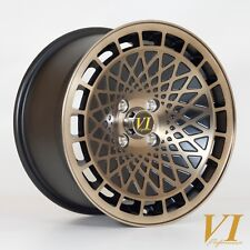"4 x VIP TypeT 15"" x 8"" 4x100 et25 alloys fits Mazda Mx5 Honda Civic Vw Polo Golf"