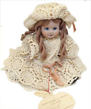 BAMBOLA PORCELLANA BISCUIT CLEò MERLETTO MARILù FAENZA DOLL PORCELAIN NEW