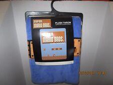 Nintendo Super Mario Bros Throw Blanket Retro Bioworld NES Classic Game Brothers