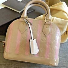 NEW LOUIS VUITTON LV Alma BB Satchel Shoulder Bag VERNIS Monogram Box&Receipt