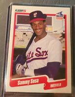 1990 Sammy Sosa Fleer Baseball Card #548 Rookie RC Near Mint