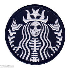 Hook Dead Barista Zombie Skull Coffee Cafeine Tactical Morale Gear Patch