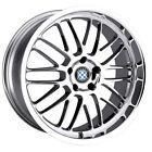 4-Beyern Mesh 17x8 5x120 +30mm Chrome Wheels Rims