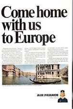 """1965 Air France Airlines """"Come Home with us to Europe"""" PRINT AD"""