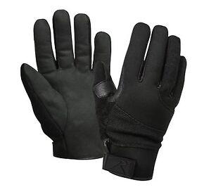 Cold Weather Street Shield Cut Resistant Black Tactical Gloves - S,M,L,XL,2XL