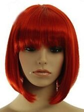 New COS Kanekalon costum Fiber cheap Full wig women's red Short cosplay wigs